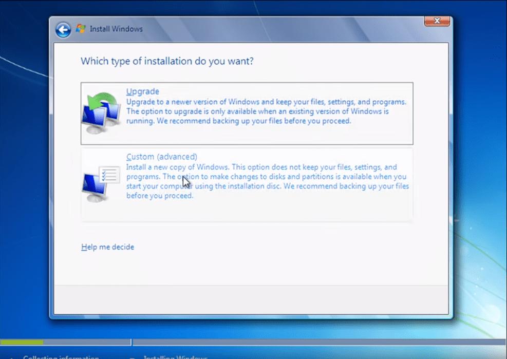 Ghid instalare windows 7 4