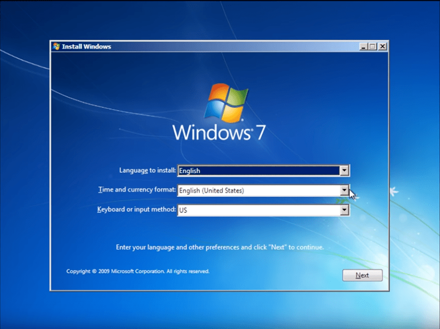 Ghid instalare Windows 7